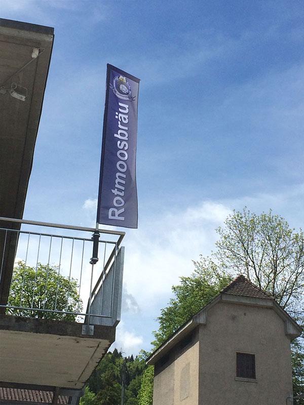 Rotmoosbräu Fahne